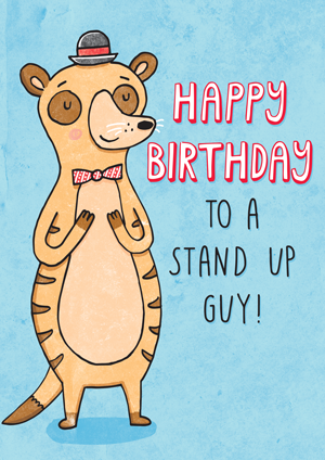Meerkat Birthday Card Katie Ruby Illustration